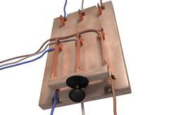 Circuit breaker switch 3d illustration Stock Illustration