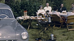 Canada  1949: group of people having a picnic Stock Footage