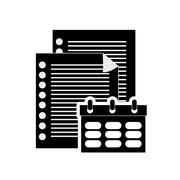 Notepad and documents icon Stock Illustration