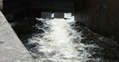 Lock of the Goeta Canal in Sweden Stock Footage