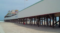 Daytona Beach pier Stock Footage