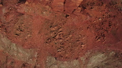 Looking Straight Down Over Giant Rock Tower in Desert Stock Footage