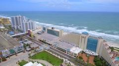 Aerial Daytona Beaches Florida Stock Footage