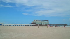 Daytona Beach pier and Joe's Crab Shack Stock Footage