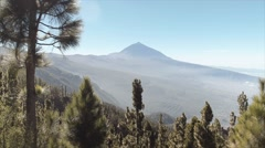 Magnificent view on the Teide Stock Footage