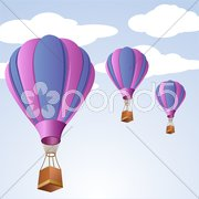 Parachute in sky Piirros
