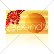 Abstract gift card Stock Illustration