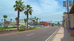 Daytona Beach Atlantic Ave and Main Street Stock Footage