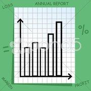 Graph with mathematics icons Stock Illustration