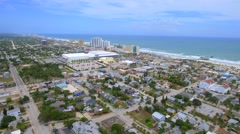 Helicopter aerial tour Daytona Florida Stock Footage