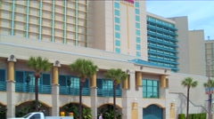 Hilton Beach Hotel Daytona FL Stock Footage