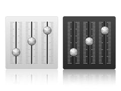 Mixing console icon Stock Illustration