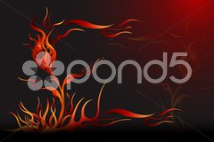 Abstract fire background Piirros
