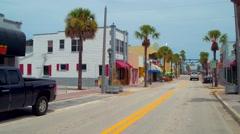 Main Street Daytona Florida Stock Footage