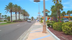 Northbound a1a Daytona Beach Florida Stock Footage