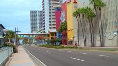 Ocean Walk Village Daytona Beach Stock Footage