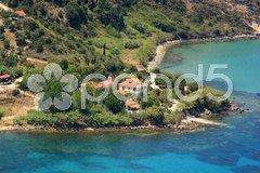 Aerial view on Zakynthos Greece Stock Photos