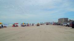 People at Daytona Beach Stock Footage