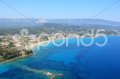Aerial view on Zakynthos Greece Stock Photos