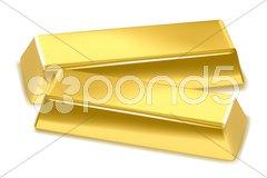 Gold bricks Stock Illustration