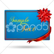 Gift with wip wrapping bow Stock Illustration