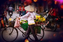 Vietnamese people. Hanoi Stock Photos