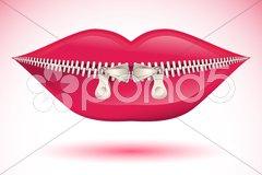 Abstract lips Stock Illustration