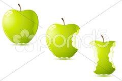 Raw apples Stock Illustration