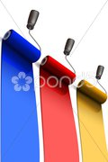 Paint rollers Stock Illustration