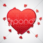 Jigsaw puzzle heart Stock Illustration
