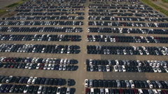 Storage parking with new cars Stock Footage