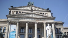 Konzerthaus on Gendarmenmarkt and Schiller statue Stock Footage