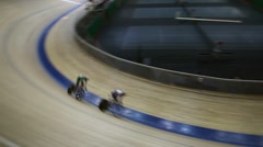 Cycling pursuit on track Stock Footage