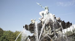 Neptune Fountain Stock Footage