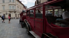 Public transportation in city of budapest Stock Footage