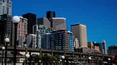 Seattle Waterfront Day Stock Footage