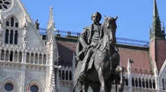 Equestrian Statue of Gyula Andrassy Stock Footage