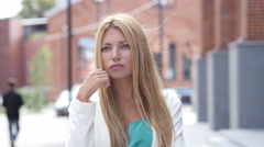 Thinking Pensive Girl, Brainstorming Stock Footage