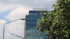 Amazon Headquarters Building Stock Footage