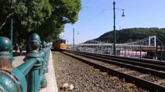 Tramways in budapest Stock Footage