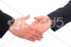 Business men with an open hand Stock Photos