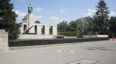 Soviet Memorial in the Tiergarten Stock Footage