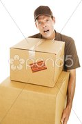 Delivery Man - Frustration Stock Photos