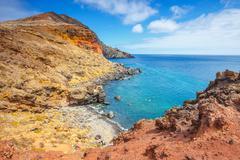 Cliffs at Ponta de Sao Lourenco, Madeira, Portugal Stock Photos