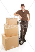 Handsome Delivery Man or Mover Stock Photos