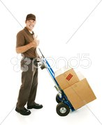 Mover Gives Thumbs Up Stock Photos