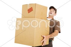 Overwhelmed Delivery Guy Stock Photos