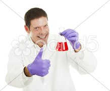 Scientist Has the Cure Stock Photos