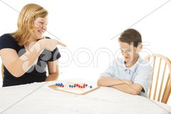 Picking on Little Brother Stock Photos