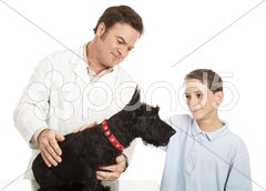 Visit to the Veterinarian Stock Photos